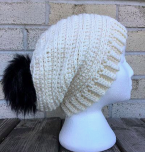 snowy day slouch hat
